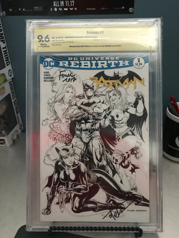 BATMAN #1 HASTINGS BLACK & WHITE 9.6 CBCS YELLOW LABEL DOUBLE SIGNED