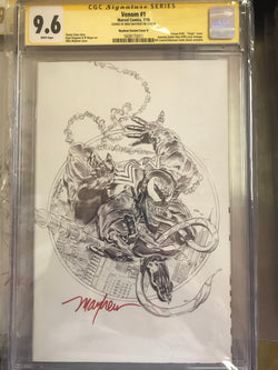 VENOM #1 CONVENTION UCB KRS MAYHEW EXCLUSIVE CGC 9.6 SS YELLOW LABEL