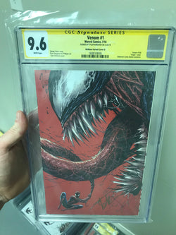 VENOM #1 CONVENTION UNKNOWN COMIC BOOKS KIRKHAM EXCLUSIVE CGC 9.6 SS YELLOW LABEL 9/1/2018