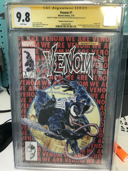 VENOM #1 UCB EXCLUSIVE 9.6/9.8 CGC SS YELLOW LABEL MAYHEW/CATES