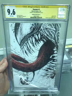 VENOM #1 UNKNOWN COMIC BOOKS EXCLUSIVE KIRKHAM 9.6 CGC SS YELLOW LABEL 8/1/2018
