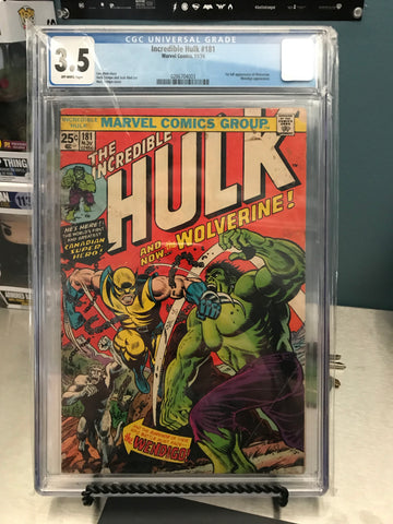 INCREDIBLE HULK #181 3.5 CGC BLUE LABEL