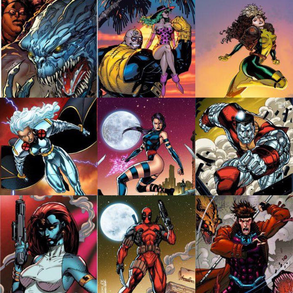 Jim Lee Trading Card July Marvel Theme Bundle 29 Covers 8/1/2017