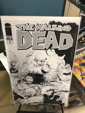 WALKING DEAD #1 Nashville 2015 Wizard World Comic Exclusive Variant Opena Sketch Signed