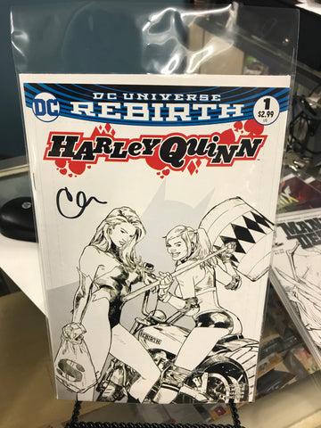 HARLEY QUINN #1 VOL. 3 CLAY MANN KWAN CHANG BW EXCLUSIVE VARIANT SIGNED