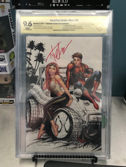 AMAZING SPIDER-MAN #25 UNKNOWN COMIC BOOKS CON VAR 9.6 CBCS YELLOW LABEL SIGNED BY TYLER KIRKHAM