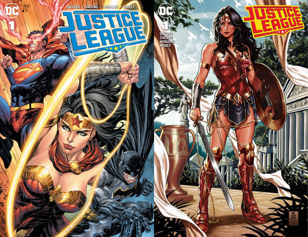 JUSTICE LEAGUE #1 2 PACK KIRKHAM & BROOKS 6/20/2018