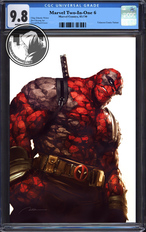 MARVEL TWO-IN-ONE #6 UNKNOWN COMIC BOOKS VIRGIN DEADPOOL VAR LEG CGC 9.8 BLUE LABEL 7/1/2018