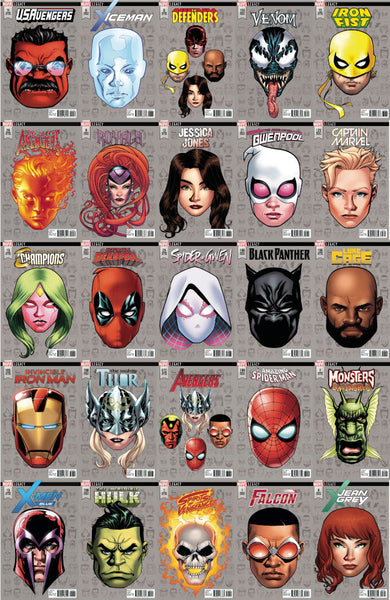 OCTOBER MARVEL HEADSHOTS BUNDLE (ALL 1:10) 29 PACK 10/25/2017