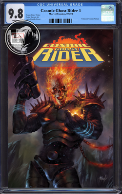 COSMIC GHOST RIDER #1 (OF 5) UNKNOWN COMIC BOOKS EXCLUSIVE PARRILLO CGC 9.8 BLUE LABEL 10/30/2018