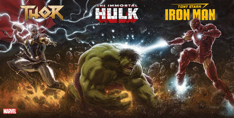 THOR IMMORTAL HULK TONY STARK 3 PACK CONNECTING PARTY VARIANT 6/21/2018
