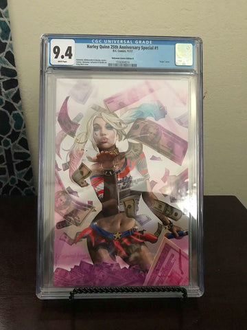 HARLEY QUINN 25TH ANNIVERSARY CGC 9.4 UNKNOWN COMIC BOOKS CVR C EXCLUSIVE HORN VAR