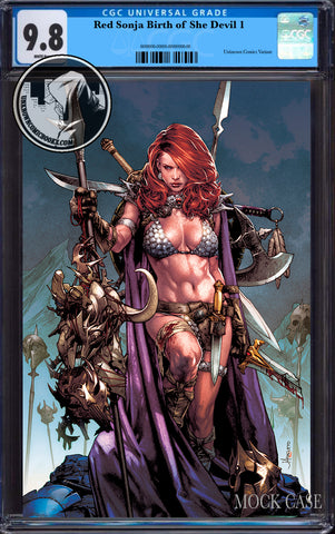 RED SONJA BIRTH OF SHE DEVIL #1 UNKNOWN COMICS ANACLETO EXCLUSIVE VIRGIN CGC 9.8 BLUE LABEL (06/12/2019)