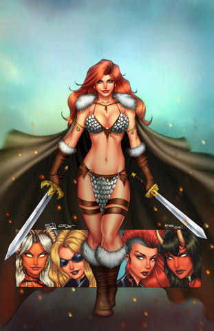RED SONJA AGE OF CHAOS #1 UNKNOWN COMICS RYAN KINCAID EXCLUSIVE VIRGIN VAR (01/22/2020)