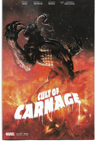 WEB OF VENOM CULT OF CARNAGE #1 DELLOTTO VAR 1:50 4/10/2019