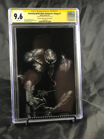 AMAZING SPIDER-MAN VENOM INC OMEGA #1 LEG UNKNOWN COMIC BOOKS CON-EXCLUSIVE CGC 9.6 SS YELLOW LABEL DELL'OTTO 6/1/2018