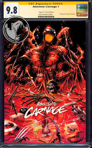 ABSOLUTE CARNAGE #1 (OF 4) TYLER KIRKHAM EXCLUSIVE CGC 9.8 SS YELLOW LABEL (11/30/2019)