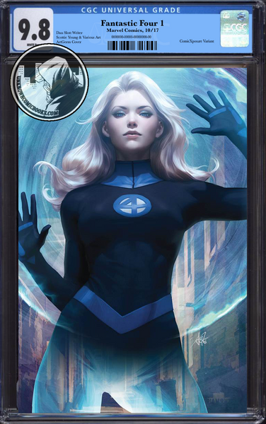FANTASTIC FOUR #1 COMICXPOSURE ARTGERM VIRGIN VARIANT CGC 9.8 BLUE LABEL 12/30/2018