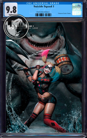 SUICIDE SQUAD #1  RYAN BROWN EXCLUSIVE MINIMAL TRADE VAR LMTD CGC 9.8 BLUE LABEL (05/30/2020)