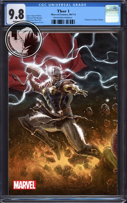 THOR #1 ANDREWS CONNECTING PARTY UCB EXCLUSIVE VIRGIN VAR CGC BLUE LABEL 9.8 9/1/2018