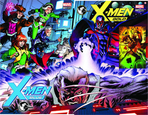 X-MEN GOLD & BLUE #1 UNKNOWN COMIC BOOKS EXCLUSIVE CONNECTING COVERS