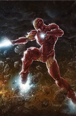TONY STARK IRON MAN #1 CONNECTING PARTY UCB EXCLUSIVE VIRGIN VAR 6/20/2018