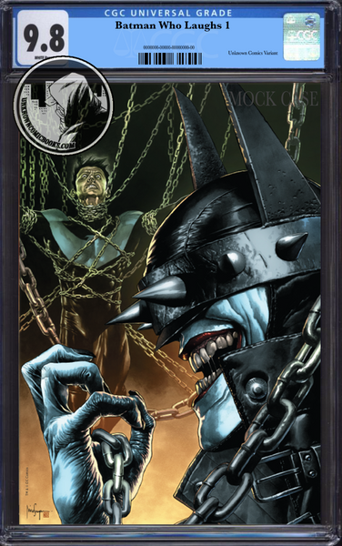 BATMAN WHO LAUGHS #1 (OF 6) UNKNOWN COMIC BOOKS EXCLUSIVE SUAYAN UNMASKED CONVENTION EXCLUSIVE CGC 9.8 BLUE LABEL 3/30/2019