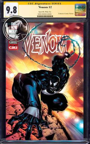 VENOM #12 UNKNOWN COMIC BOOKS TAN C2E2 CONVENTION EXCLUSIVE CGC 9.8 SS YELLOW LABEL 6/30/2019