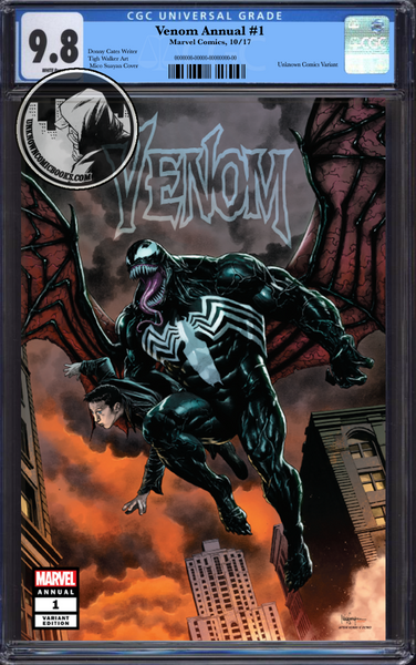 VENOM ANNUAL #1 UNKNOWN COMIC BOOKS SUAYAN EXCLUSIVE CGC 9.8 BLUE LABEL 02/28/2019