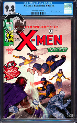 X-MEN #1 FACSIMILE EDITION UNKNOWN COMICS PAREL EXCLUSIVE CGC 9.8 BLUE LABEL (10/30/2019)