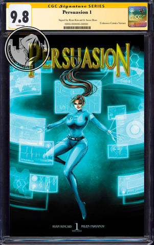 PERSUASION #1 UNKNOWN COMICS ANNA ZHUO EXCLUSIVE CGC 9.8 SS YELLOW LABEL DOUBLE SIGNED(10/30/2019