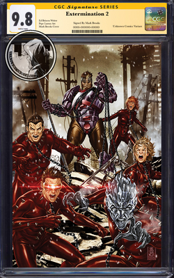 EXTERMINATION #2 (OF 5) UNKNOWN COMIC BOOKS BROOK VIRGIN VAR CGC 9.8 SS YELLOW LABEL 12/30/2018
