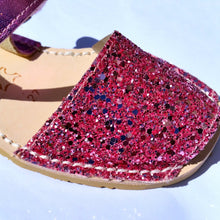 Load image into Gallery viewer, Kids - Glitter CORAL - Menorca Sandals