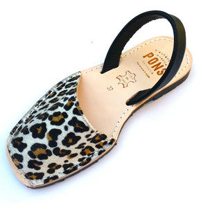 Load image into Gallery viewer, Print LEOPARD - Menorca Sandals - Menorca Sandals