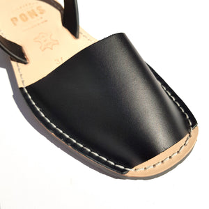 Leather BLACK - Menorca Sandals - Menorca Sandals