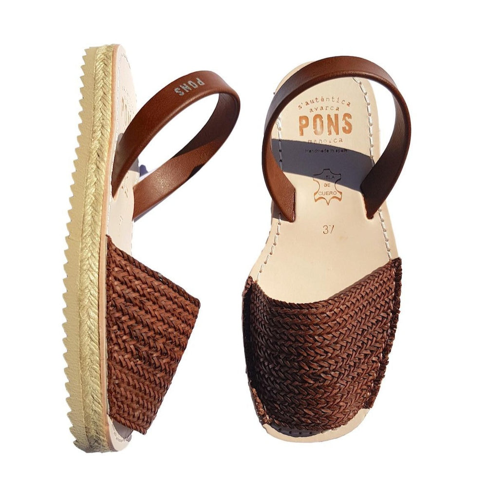 Espadrille braided tan