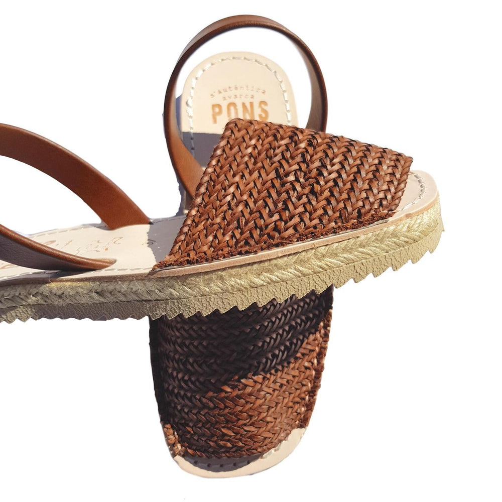 Espadrille braided tan side view