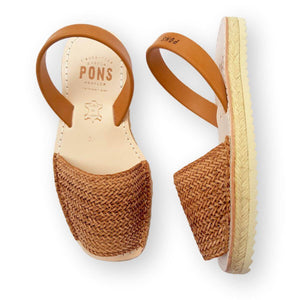 Load image into Gallery viewer, Espadrille Braided Caramel