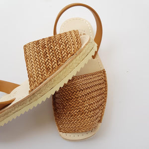 Espadrille Braided Caramel side view