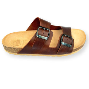Slides Leather Choc