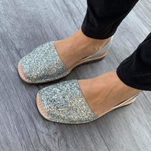 Load image into Gallery viewer, Glitter SILVER - Menorca Sandals - Menorca Sandals