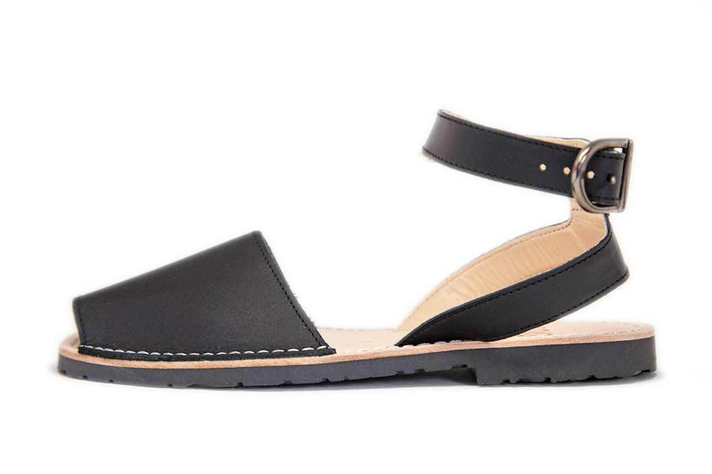 Ankle - Leather Black - Menorca Sandals - Menorca Sandals