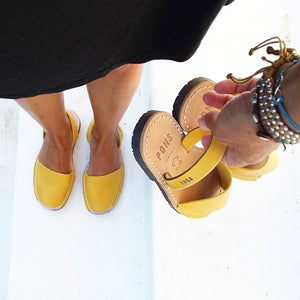 Leather SAFFRON - Menorca Sandals - Menorca Sandals