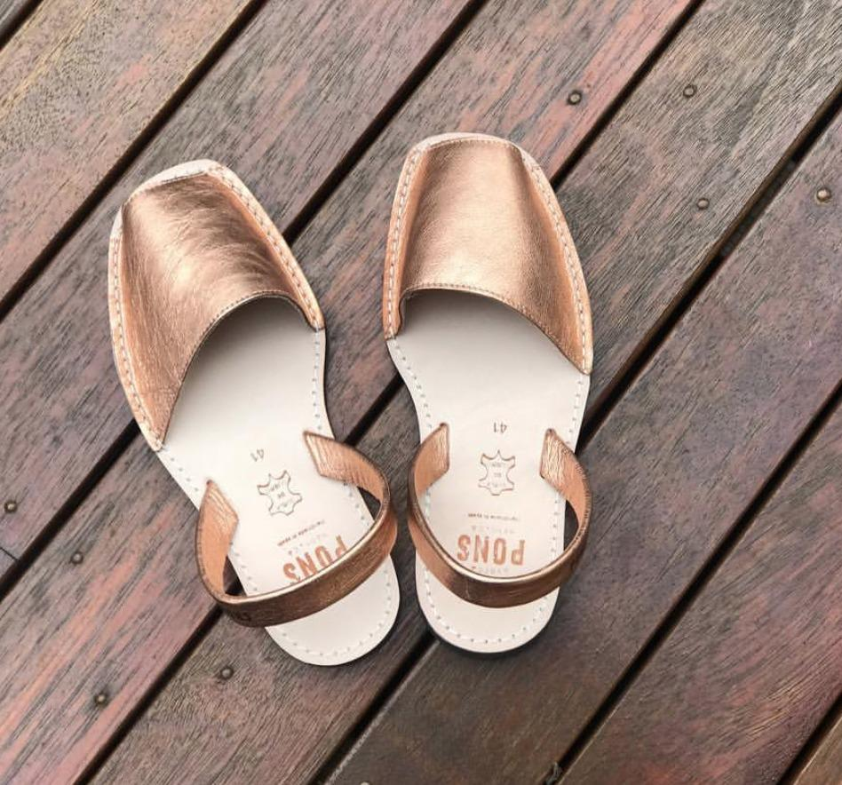 Metallic ROSE GOLD - Menorca Sandals - Menorca Sandals