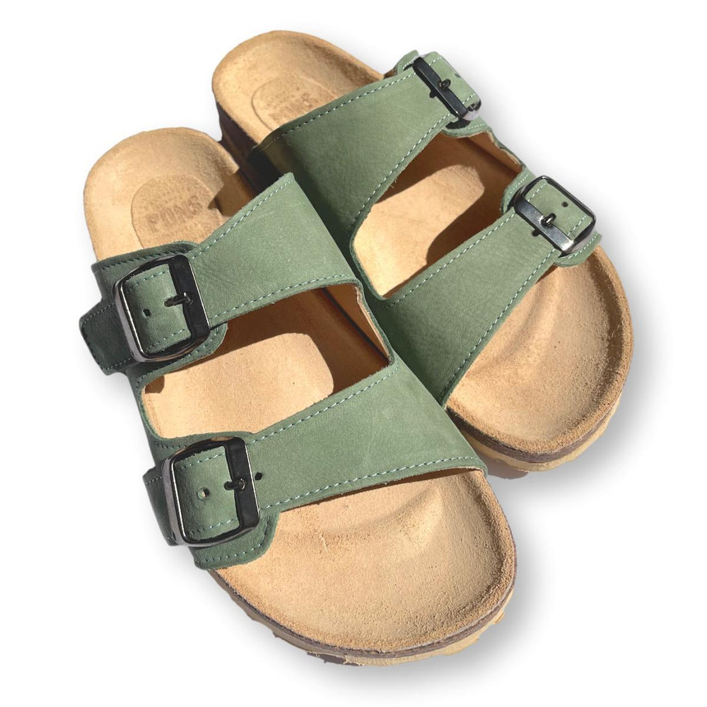 Slides in khaki green