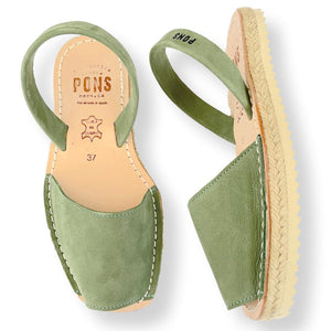 Espadrille in sage leather