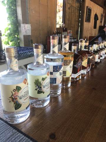 All the gorgeous bottles of spirits at Kinsip in Prince Edward County