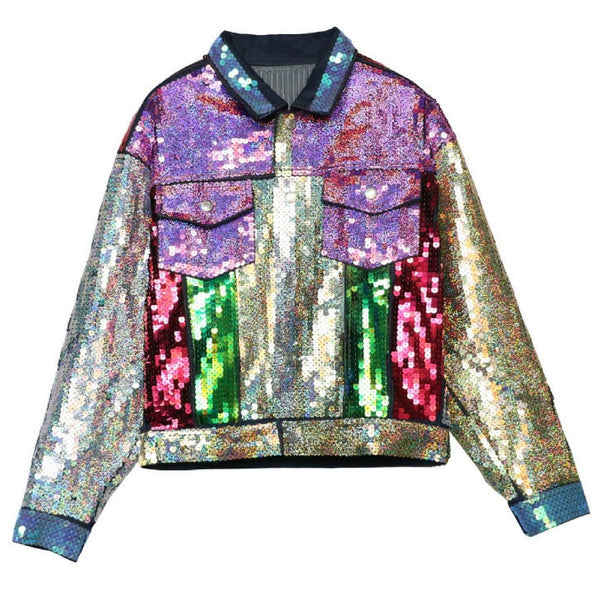 Sequin Multicoloured Denim Jacket