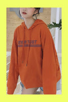 Orange Never Trust Hoodie