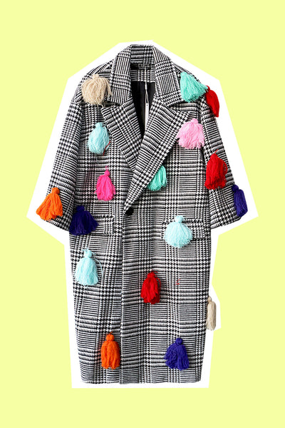 Technicolored Tassel Dream Coat